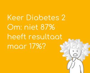 Keer Diabetes 2 Om: niet 87% heeft resultaat maar 17%?